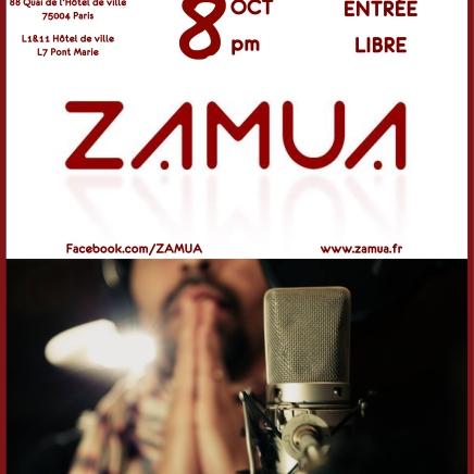 Zamua concert 08 octobre