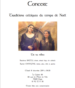Concert Tir na mBeo 16/12/2014