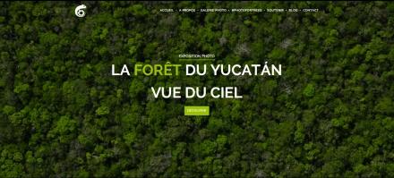 La Forêt du Yucatán vue du ciel