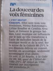 LE PARISIEN (PRINT) ANNONCE LES SELKIES