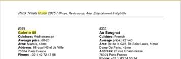 PARIS TRAVEL GUIDE 2015