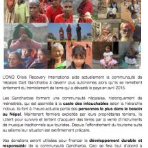 Les projets ONG soutenus