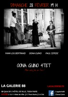 Concert Jazz Oona Guino Trio 28 février